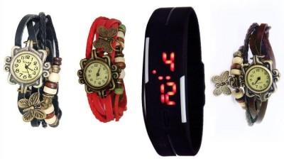 AVISER TRI-090 Analog-Digital Watch  - For Girls, Couple