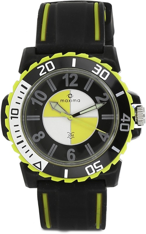 Maxima 33288PPGN Drone Analog Watch For Men