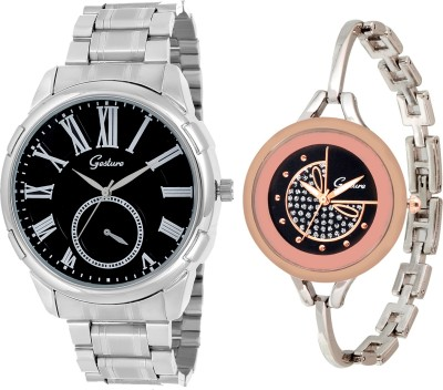 Gesture Elegant combo EG11 Elegant Analog Watch  - For Couple