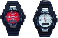 Fashion Gateway S Shock Red and White Dail Digital and Analog Sports Watch (pack of 2) Black Analog-Digital Watch  - For Boys & Girls best price on Flipkart @ Rs. 628