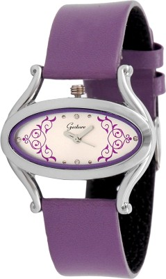 Gesture Gesture Elegant 1016-Purple Watch for Women Elegant Analog Watch  - For Women