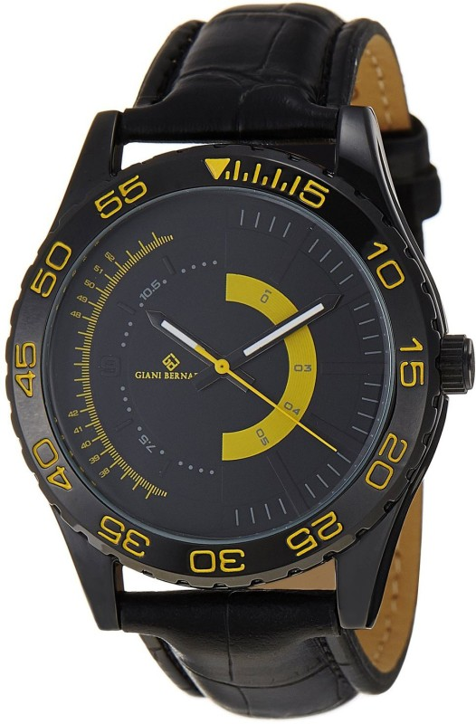Giani Bernard GBM 02B Half Throttle Analog Watch For Men