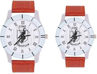 Lime gentspolo-36-pololadies-30 Analog Watch  - For Couple