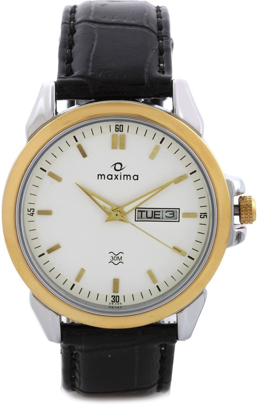 Maxima 26345LMGT Gold Analog Watch For Men