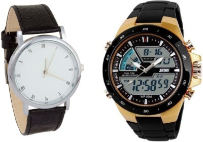 Skmei C 212 LIMITED COMBO SKMEI Dual Time Analog+Digital Watch for Men With Formal Watch Analog-Digital Watch  - For Men & Women