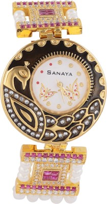 Sanaya Sanaya Kundan SW70 Analog Watch  - For Women