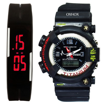 OXHOX Combo deal 1 Analog-Digital Watch  - For Couple