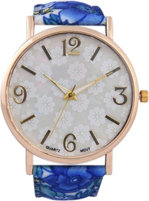 3WISH White Dial Fabric Strap Analog Watch - For Women