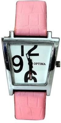Optima OFT0002-Pink Fashion Track Analog Watch  - For Girls, Women