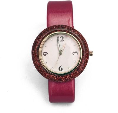 SHH Red Belt Buckle Designer Analog Watch  - For Women