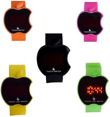 ROLAXEN Apple Touch Led Screen Combo set of 5 Digital Watch  - For Boys, Men, Girls, Women