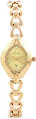Maxima 04886BMLY Gold Analog Watch - For Women