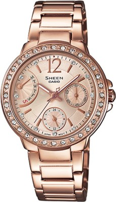Casio SX135 Sheen Analog Watch - For Women