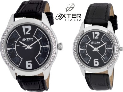 Oxter OX-7009-BK Combo Analog Watch  - For Couple