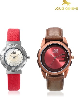 Louis Geneve LG-LMW-COMBO-103 Elegant & Fashionable Analog Watch  - For Couple