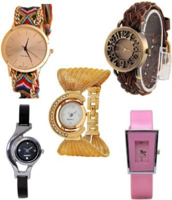 SPINOZA glory mutlicolor fancy watches and geneva watch set of 5 watches for girls Analog Watch  - For Women