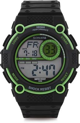 Sonata NH77004PP01J Digital Watch - For Men