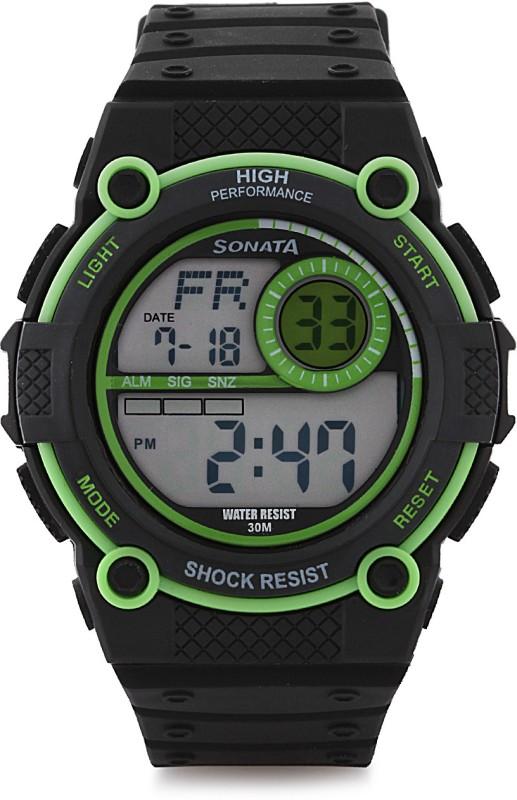 Sonata NH77004PP01J Digital Watch For Men
