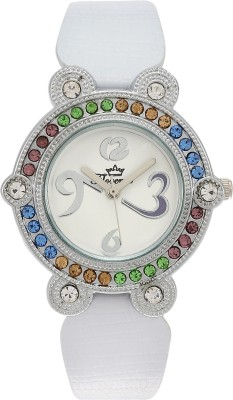 Florence FL-WHT-SLV-F-073 Analog Watch  - For Women