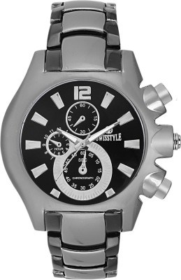Swisstyle SS-GR8052-BLK Analog Watch  - For Men