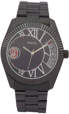 Adine AD-7005BLACK-BLACK Analog Watch  - For Men