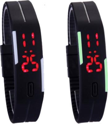 Oxter CMB-Bk-BkSb Modest Digital Watch  - For Boys