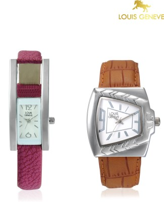 Louis Geneve LG-LMW-COMBO-102 Elegant & Fashionable Analog Watch  - For Couple