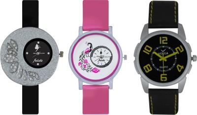 Frida Designer VOLGA Beautiful New Branded Type Watches Men and Women Combo278 VOLGA Band Analog Watch  - For Couple