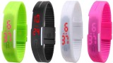 NS18 Silicone Led Magnet Band Watch Comb...