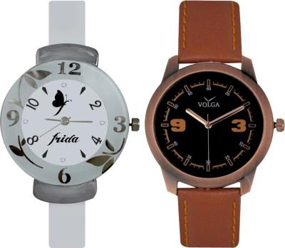 Frida Designer VOLGA Beautiful New Branded Type Watches Men and Women Combo200 VOLGA Band Analog Watch  - For Couple