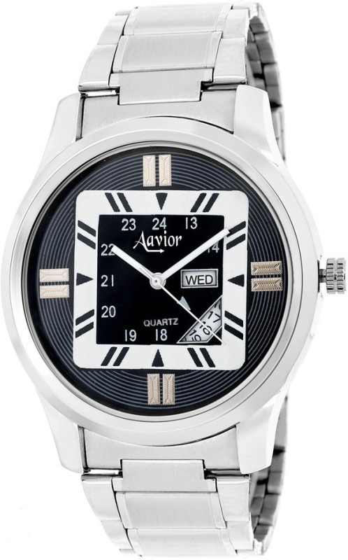 Aavior Fashion Black AA206 Day and Date Analog Watch For Men