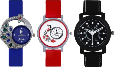 Frida Designer VOLGA Beautiful New Branded Type Watches Men and Women Combo490 VOLGA Band Analog Watch  - For Couple
