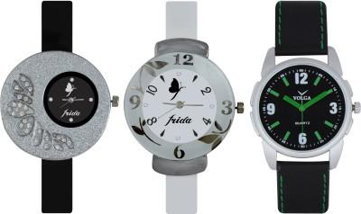 Frida Designer VOLGA Beautiful New Branded Type Watches Men and Women Combo390 VOLGA Band Analog Watch  - For Couple