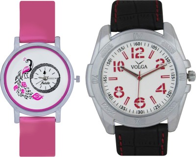 Frida Designer VOLGA Beautiful New Branded Type Watches Men and Women Combo97 VOLGA Band Analog Watch  - For Couple