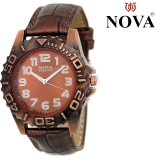 Nova Brown Metallic Women Analog Watch  ...