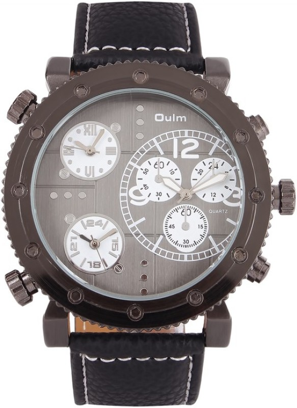 Oulm HP3421GUNBL Analog Digital Watch For Men
