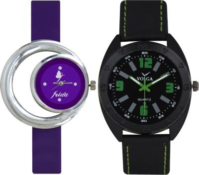 Frida Designer VOLGA Beautiful New Branded Type Watches Men and Women Combo123 VOLGA Band Analog Watch  - For Couple