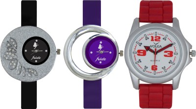 Frida Designer VOLGA Beautiful New Branded Type Watches Men and Women Combo299 VOLGA Band Analog Watch  - For Couple