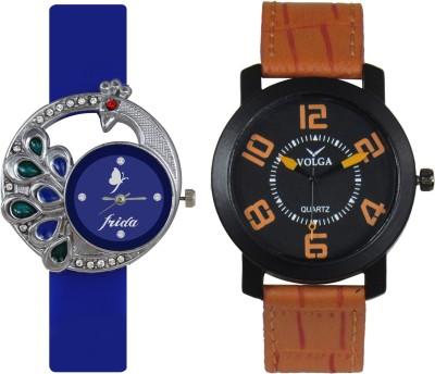 Frida Designer VOLGA Beautiful New Branded Type Watches Men and Women Combo51 VOLGA Band Analog Watch  - For Couple