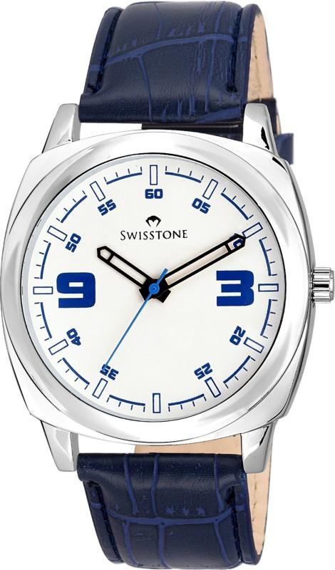 SWISSTONE SW GR039 WHT BLU Analog Watch For Men