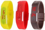 intricate Led Band Watch Combo of 3 Yell...