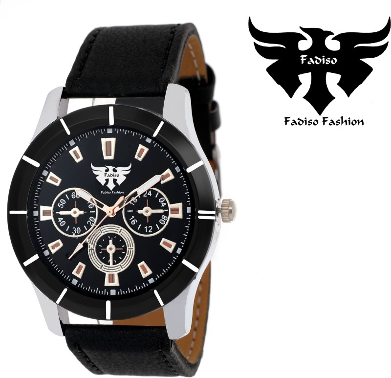 Fadiso fashion FF 1504 BK BR Chocronograph Pattern Analog Watch