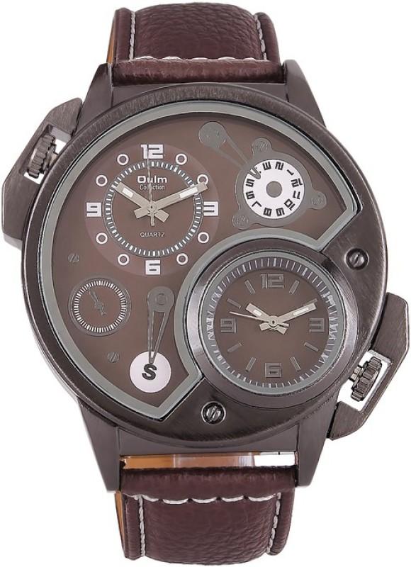 Oulm HP3578BR Analog Digital Watch For Men