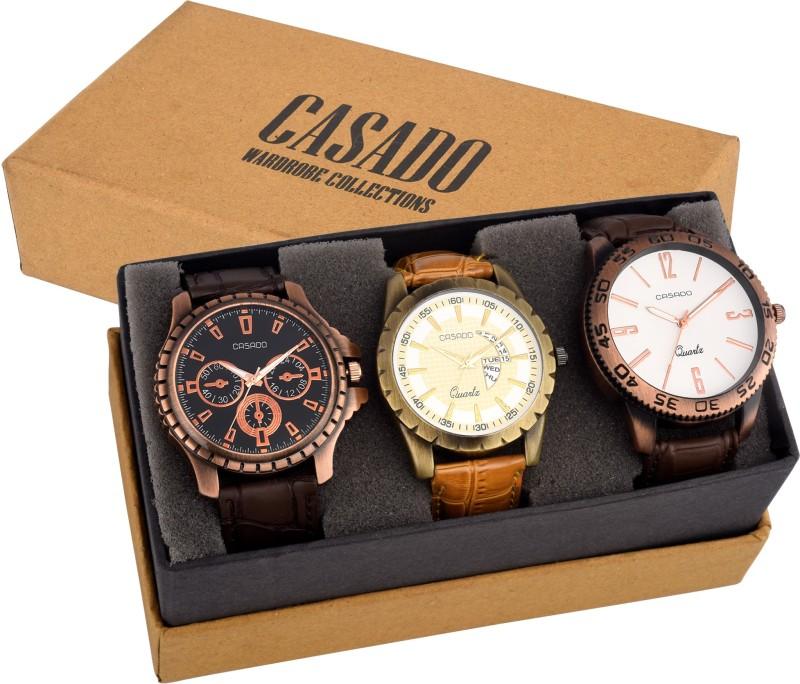 Casado 720Plus112Plus100 EXCLUSIVE Combo Of 3 Elegant Timepiece A