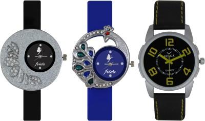 Frida Designer VOLGA Beautiful New Branded Type Watches Men and Women Combo241 VOLGA Band Analog Watch  - For Couple
