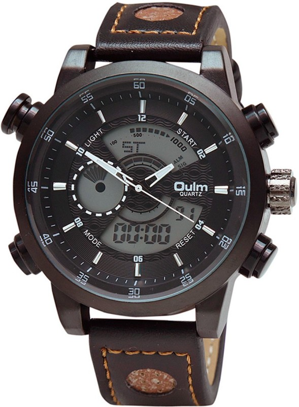OULM HP3558BR Analog Digital Watch For Men