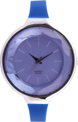 3WISH Blue Crystal Glass Dial Analog Watch - For Women