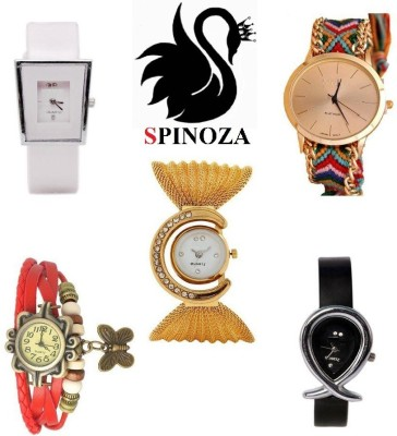 SPINOZA glory multicolor watches and geneva febric multicolor belt watch set of 5 Analog Watch  - For Women