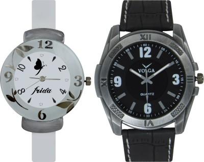 Frida Designer VOLGA Beautiful New Branded Type Watches Men and Women Combo213 VOLGA Band Analog Watch  - For Couple