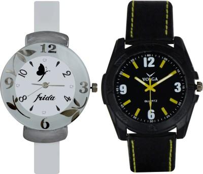 Frida Designer VOLGA Beautiful New Branded Type Watches Men and Women Combo196 VOLGA Band Analog Watch  - For Couple